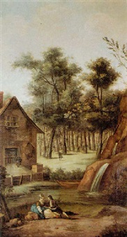 two lovers in a dutch village by anthony andriessen
