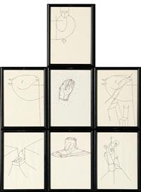disegno in sette gezzi by mimmo paladino