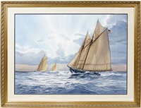 schooner at sea by tom w. freeman