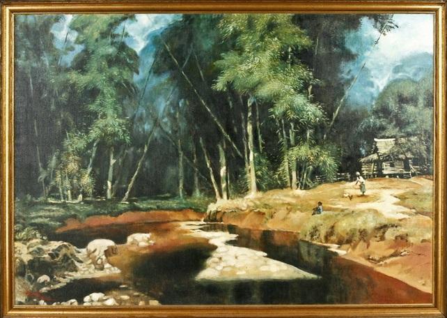 indonesischer bauernhof idyll by raden basoeki abdullah
