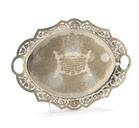oval tea tray by deakin james and sons