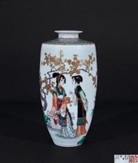 《人与梅花一样清》 (gu cai vase) by dai ronghua