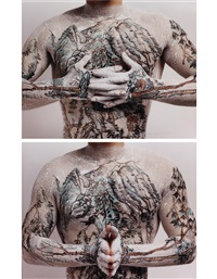 tattoo landscape no. 2 and no. 4 (2 works) by huang yan