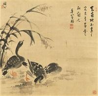 wild geese by bian shoumin