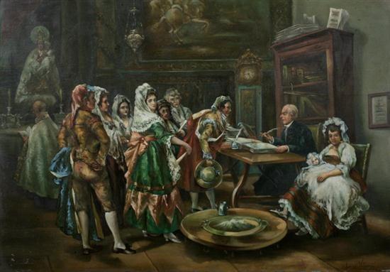 un banutizo a principios del siglo xix by eugenio lucas villamil