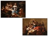 gemäldepaar: allegorie der stärke sowie allegorie der malerei (pair) by francesco conti