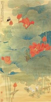 朱荷图 by liu bonong