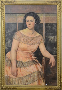 portrait de dame by georges fichefet