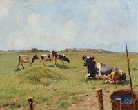 landscape with cows by gunnar bundgard