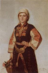 eine bulgarin im festkleide by anton weber