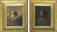 dog portraits (2 works) by louis contoit