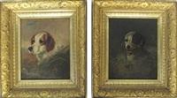 dog portraits (2 works) by louis contoit
