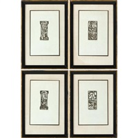 four woodcuts by max weber