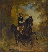 kaiserin elisabeth von österreich zu pferd by franz adam