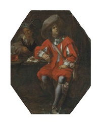 a gentleman seated in a tavern by jan miel