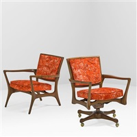 desk chair and client chair (2 works) by vladimir kagan