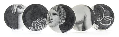 a set of twelve fornasetti eve plates