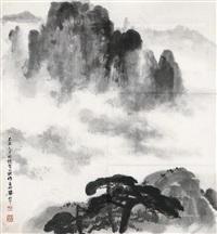 忆写黄山 (landscape) by liang shunian