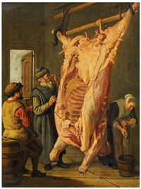 meat inspection (the slaughtered ox) by jan victors