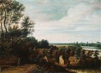 abendlandschaft mit heimkehrendem bauern by jan wildens