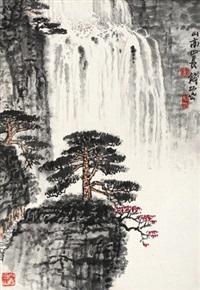 山高水长 镜心 纸本 by qian songyan