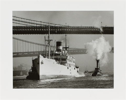 new york east river south street 2 works by andreas feininger