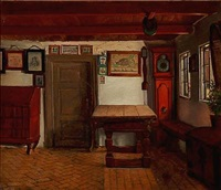 en bondestue (farm interior) by hans jörgen hammer