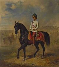 kaiser franz joseph i. von österreich zu pferd by franz adam