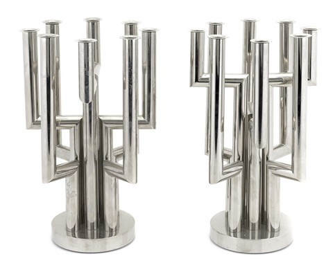 eight light candelabra pair by franz hagenauer