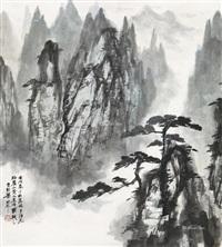 仿梅瞿山山水 (landscape) by liang shunian