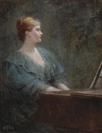 woman at the piano by william f. allan