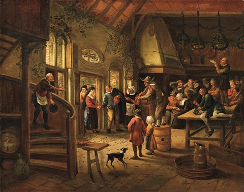 the arrival of the bride by jan steen