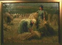 bäuerinnen bei der heuernte by martin frost