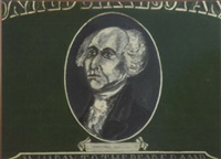 george washington on a dollar bill by phillip hefferton