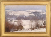 massachusetts snow, likely the blue hills by harold c. dunbar