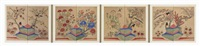 birds and flowers (hwajodo) (8 panel screen) by anonymous-korean (19)