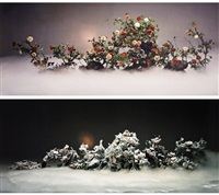 ethereal beauty and auspicious snow (2 works) by wang qingsong