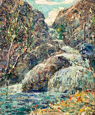 rocks colorado by ernest lawson