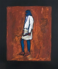 blue legged indian figure by freeland