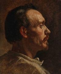 profile portrait of a man by frants peter didrik henningsen