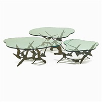 tables (set of 3) by curtis jere