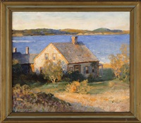 house by the water's edge, possibly chatham, massachusetts by harold c. dunbar