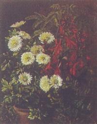 opstilling med blomster i krukker by alfrida baadsgaard