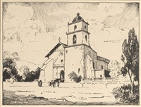 san buenaventura mission, founded 1782 by dana bartlett
