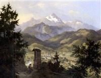 blick auf berchtesgaden und den watzmann by eduard karl biermann