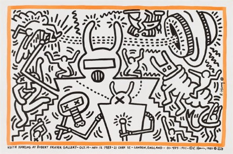 keith haring at robert fraser gallery by keith haring