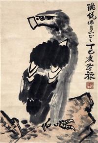高山远瞩图 by li kuchan