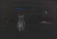 owl and moon by gertrude abercrombie