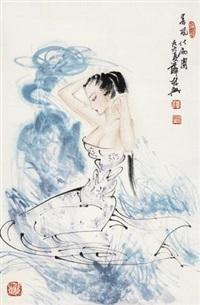 春风化雨图 (landscape) by xue linxing