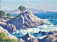 lone cypress - carmel by the sea by carl sammons